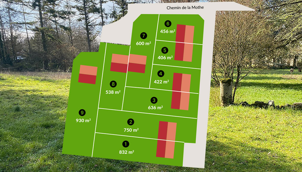 plan masse Clos de Clercy